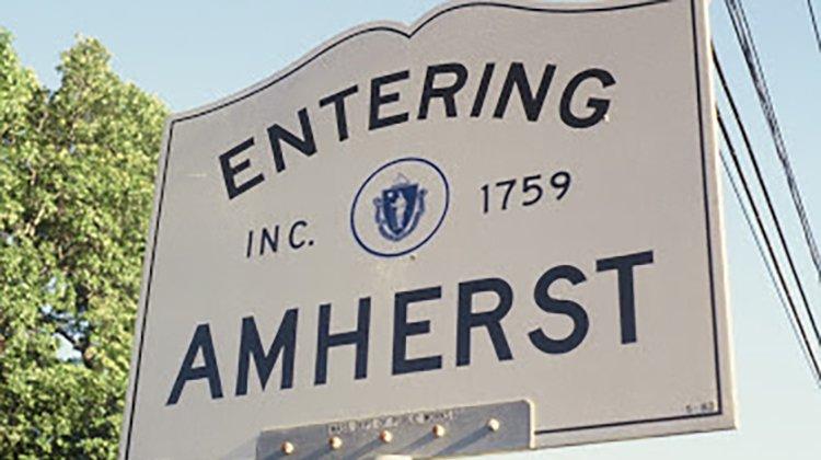 Entering Amherst sign