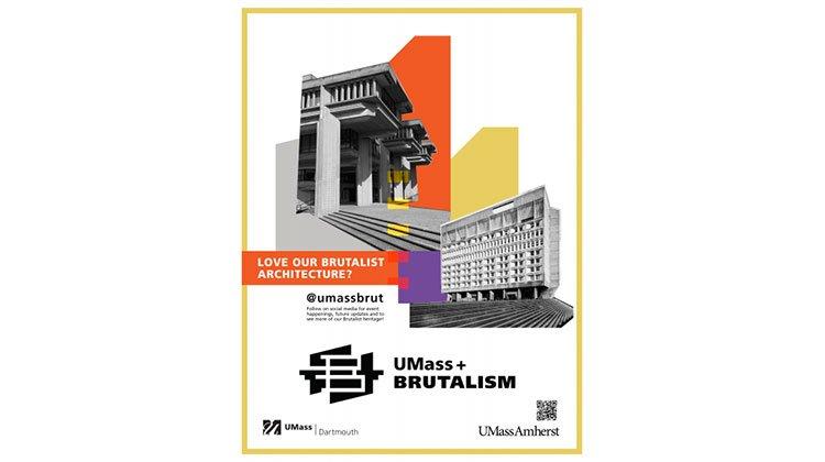 Brutalist architecture poster
